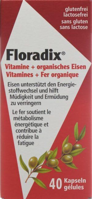 FLORADIX fer + vitamines caps 40 pce