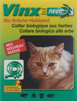 VINX colliers aux herbes neem 35cm chat vert