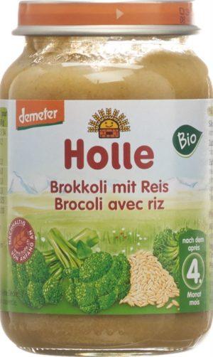 HOLLE broccoli avec riz demeter bio 190 g