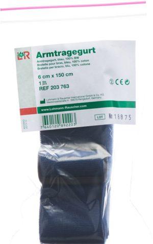 TOBLER bande pour écharpe 6cmx150cm bleu