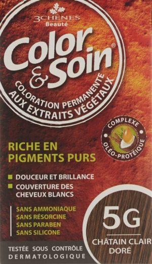 COLOR & SOIN coloration 5G châtain cla doré 135 ml