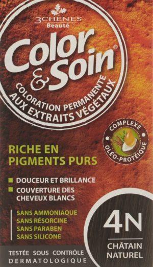 COLOR & SOIN coloration 4N châtain naturel 135 ml