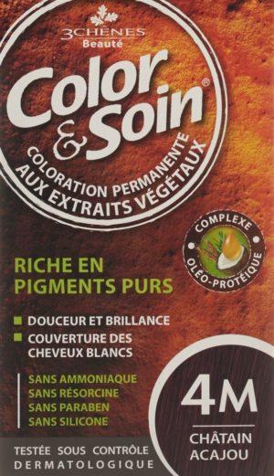 COLOR & SOIN coloration 4M châtain acajou 135 ml