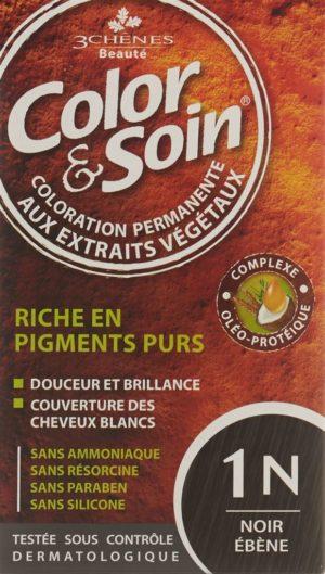 COLOR & SOIN coloration 1N noir ébène 135 ml