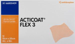 ACTICOAT FLEX 3 pansement vulné 10x20cm 12 pce