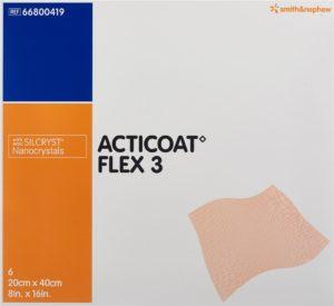 ACTICOAT FLEX 3 pansement vulné 20x40cm 6 pce