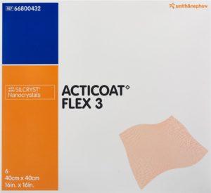 ACTICOAT FLEX 3 pansement vulné 40x40cm 6 pce