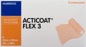 ACTICOAT FLEX 3 pansement vulné 10x120cm 6 pce