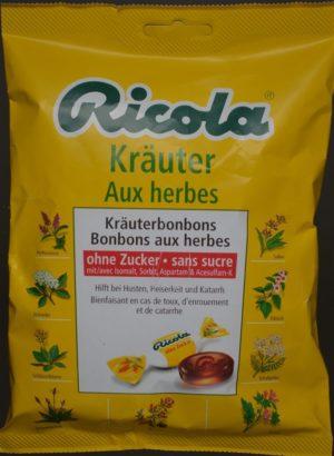 RICOLA aux herbes bonbons s sucre sach 125 g