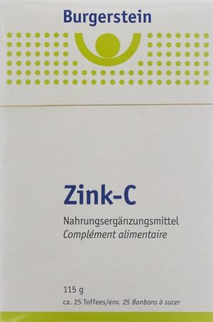 BURGERSTEIN Zink-C bonbons à sucer 115 g