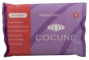 COCUNE gants de toilette humides parfu sach 8 pce