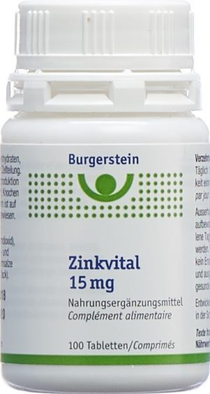 BURGERSTEIN Zinkvital cpr 15 mg bte 100 pce
