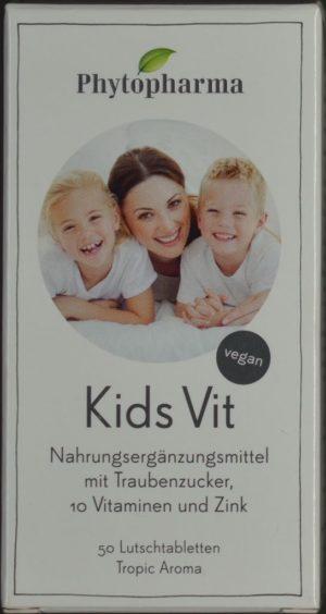 PHYTOPHARMA Kids Vit cpr sucer 10 vit&zinc 50 pce