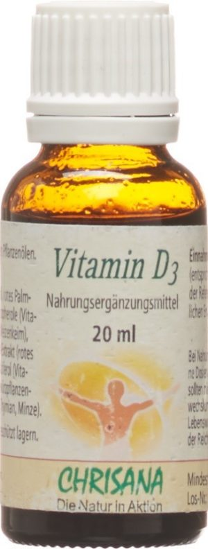 CHRISANA Vitamine D3 gouttes fl gtt 20 ml